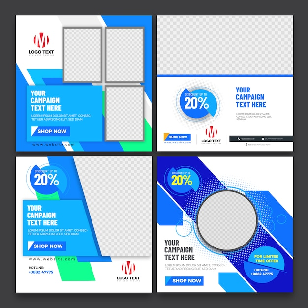Abstract banners design Premium Vector