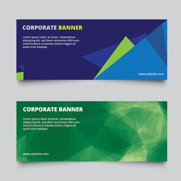 Abstract banners set Free Vector