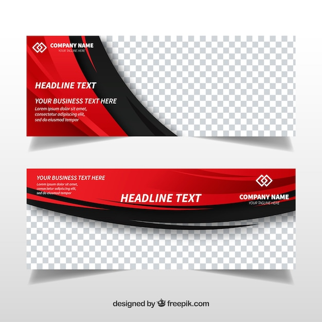 Abstract Banners Template Vector
