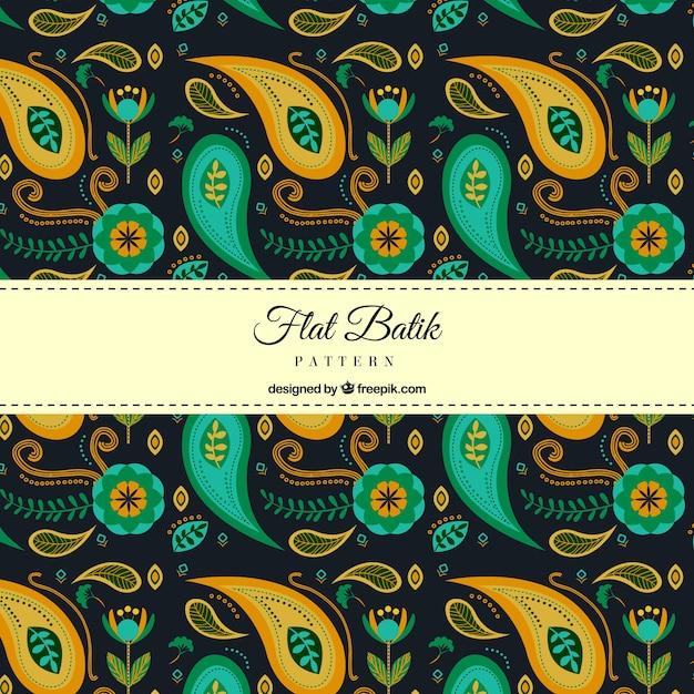 Abstract Batik Shapes Pattern Vector