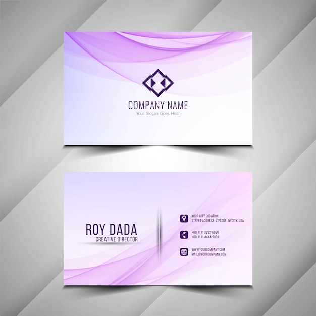 abstract beautiful business card background vector  free