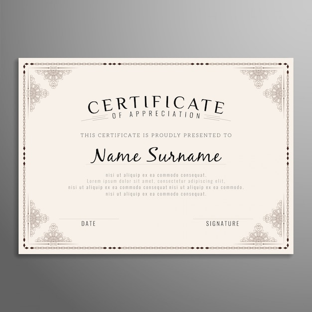 Abstract beautiful certificate design vector free download abstract beautiful certificate design free vector yadclub Gallery