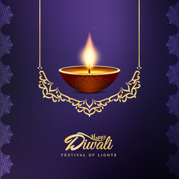 Abstract beautiful happy diwali festival background Premium Vector