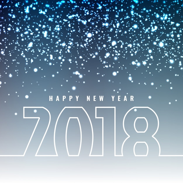 abstract beautiful happy new year 2018 greeting background free vector