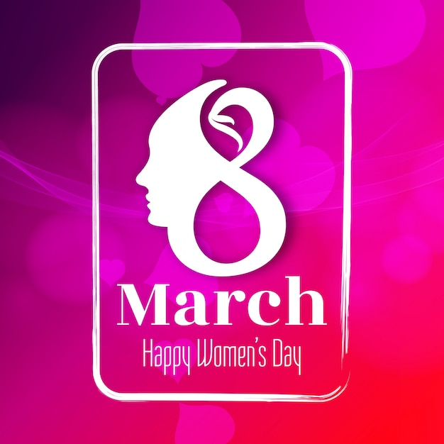 Abstract beautiful Happy Women's Day background Free Vector