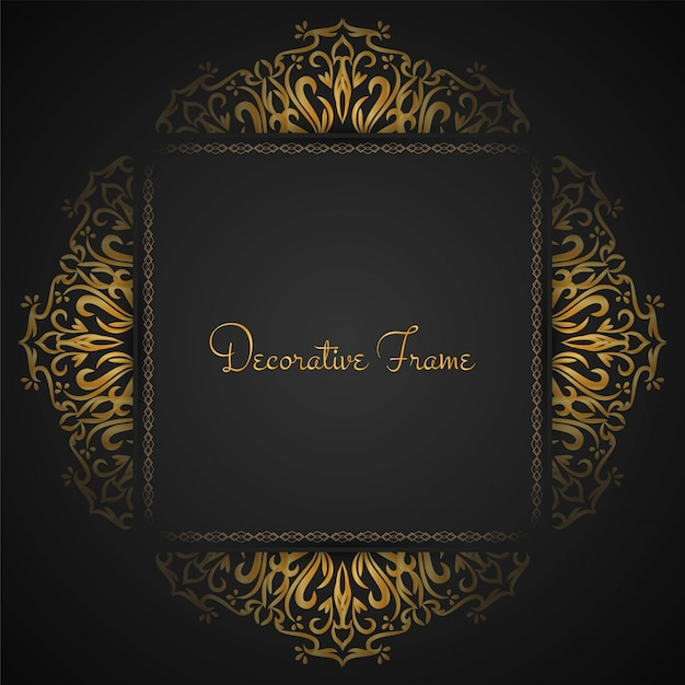 Abstract beautiful luxury frame background Premium Vector