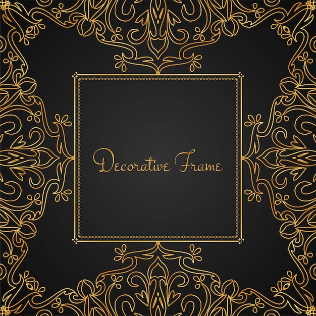 Abstract beautiful luxury frame background Free Vector