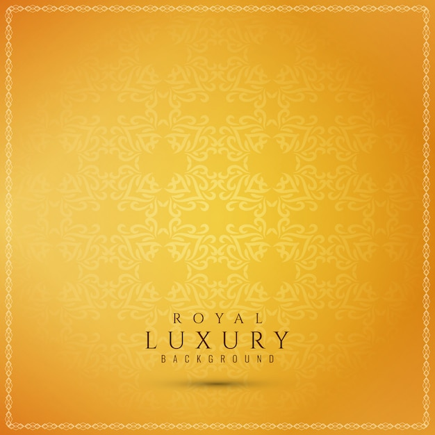 Abstract beautiful luxury yellow background Free Vector