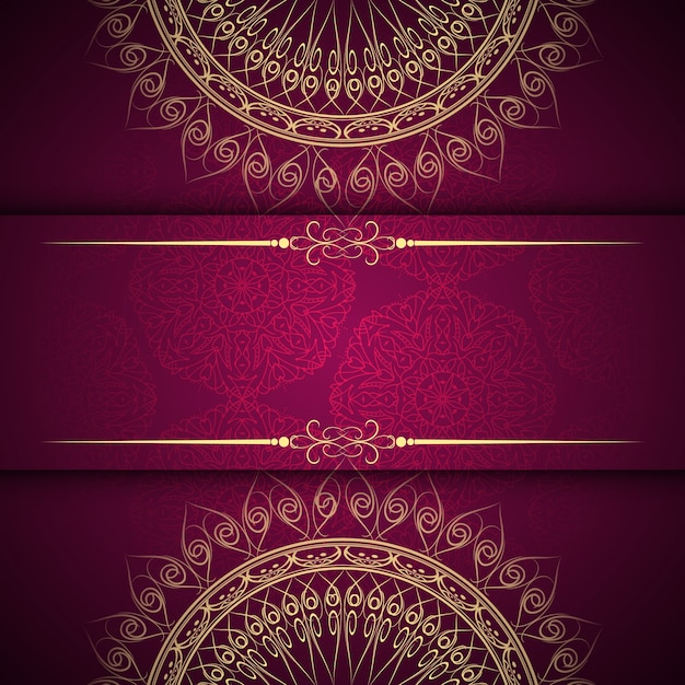 Abstract beautiful mandala design background vector free Blueprint designer free