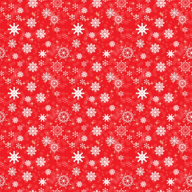 Abstract beauty christmas and new year with snow and snowflakes. seamless pattern. Premium Vector