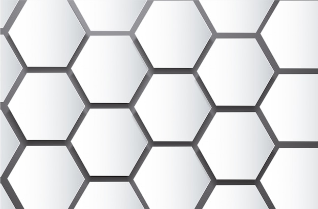 Abstract bee hive hexagon and space background Premium Vector