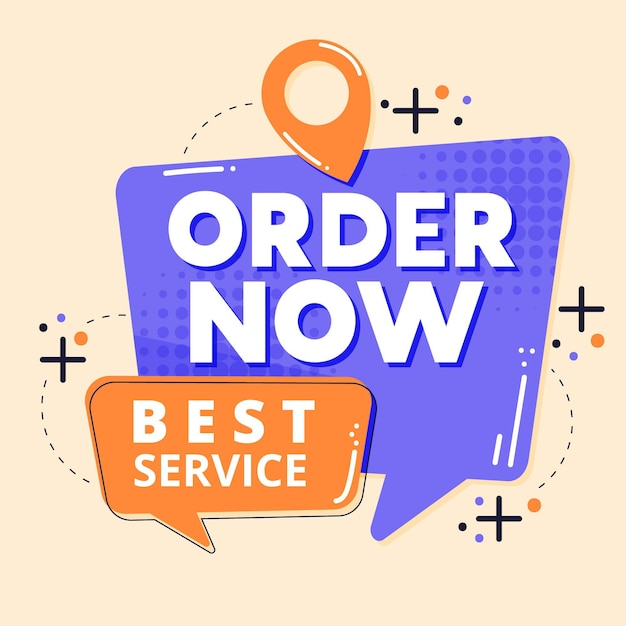 Abstract best service banner Free Vector