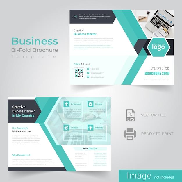 Abstract bi fold brochure design Premium Vector