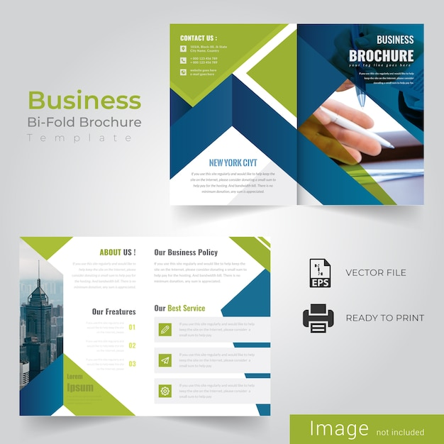 Abstract bi fold brochure Premium Vector