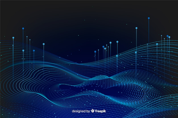 Абстрактный большой фон концепции данных Бесплатные векторы
