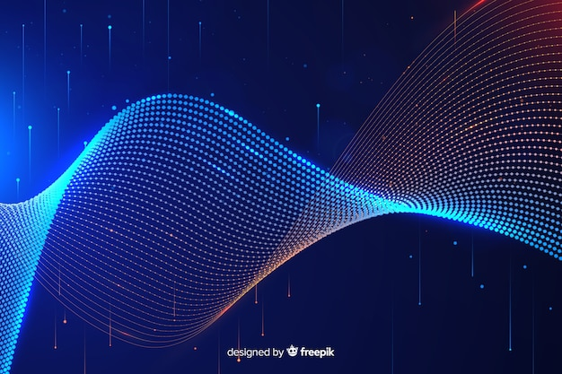 Abstract big data concept background Free Vector