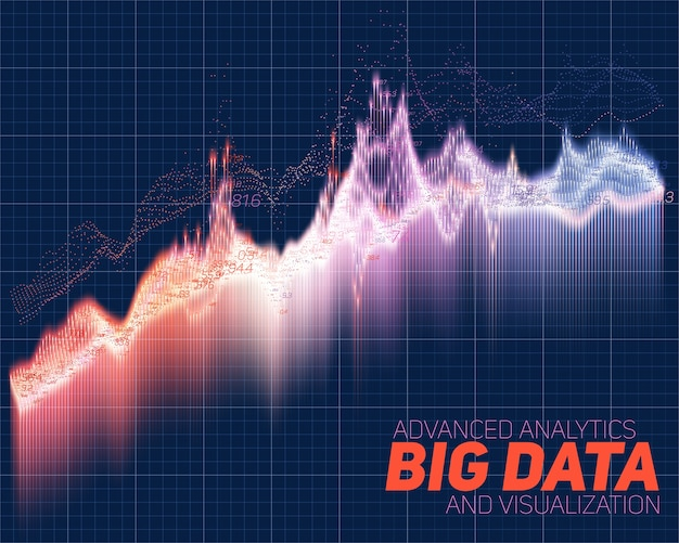Grafica astratta di big data Vettore gratuito