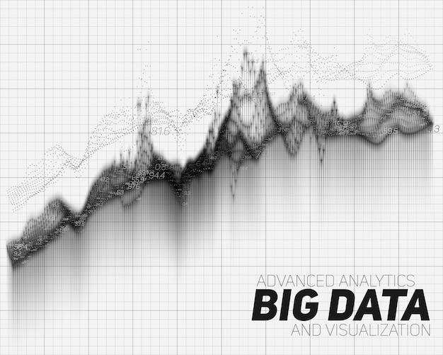 Grafica astratta di big data Vettore gratuito