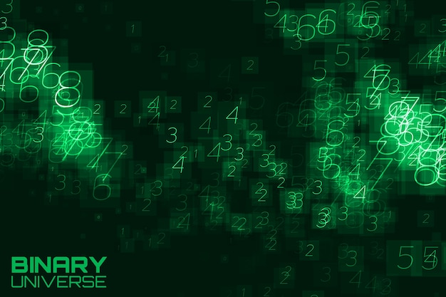 Abstract big data visualization green background Free Vector