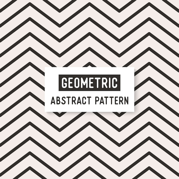Abstract black and white seamless pattern. Free Vector