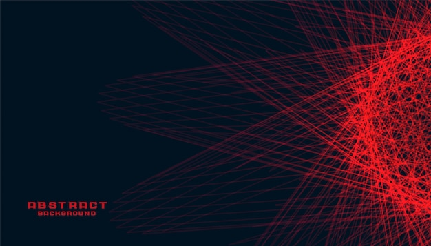 Abstract black background with glowing red lines Free Vector