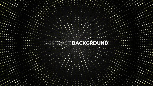 Абстрактный черный фон с золотыми точками. иллюстрации. Premium векторы
