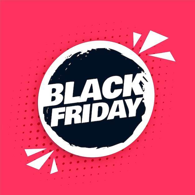 Sfondo astratto venerdì nero per la vendita e la promozione Vettore gratuito