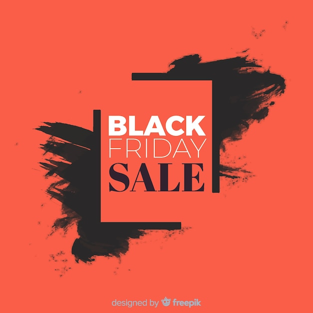 Abstract black friday sale background in black and red Free Vector