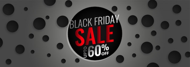 Abstract black friday sale banner Free Vector