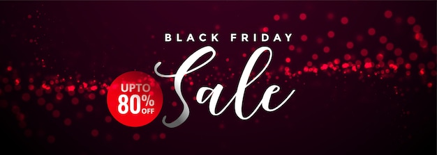 Abstract black friday sale and offer banner template Free Vector