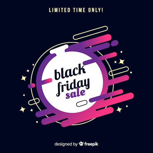 Abstract black friday sales background Free Vector