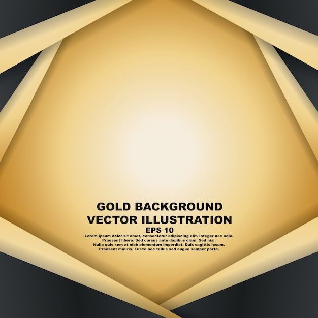 abstract black gold background template vector premium download