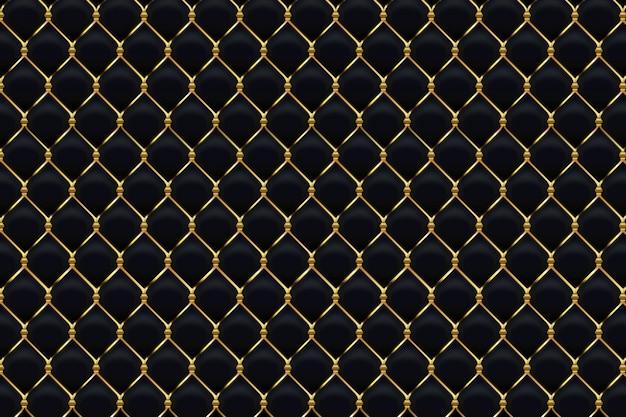 斜めの金色の線で抽象的なブラックゴールドの背景 Premiumベクター