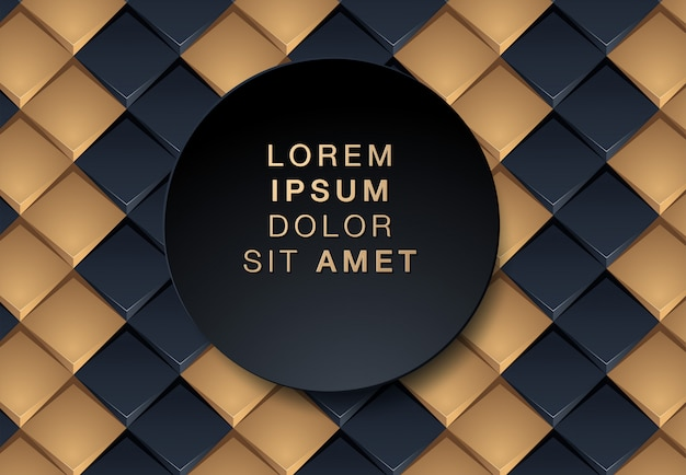 Abstract black and gold background Premium Vector