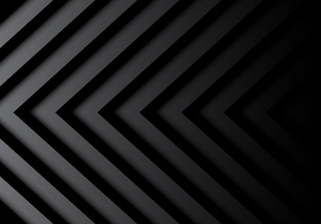 Abstract Black Gray Arrows Pattern In Shadow Background Premium