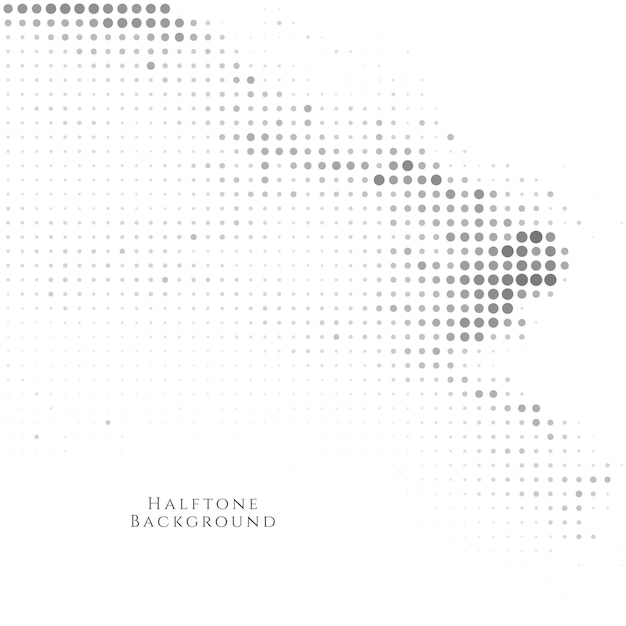 Abstract black halftone background Free Vector