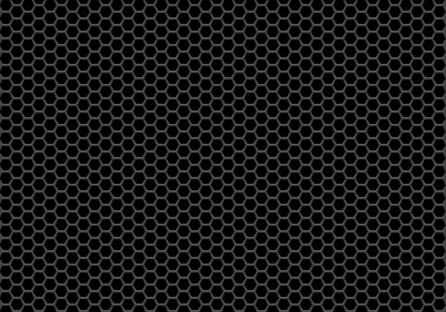 Abstract black hexagon mesh pattern background. Premium Vector