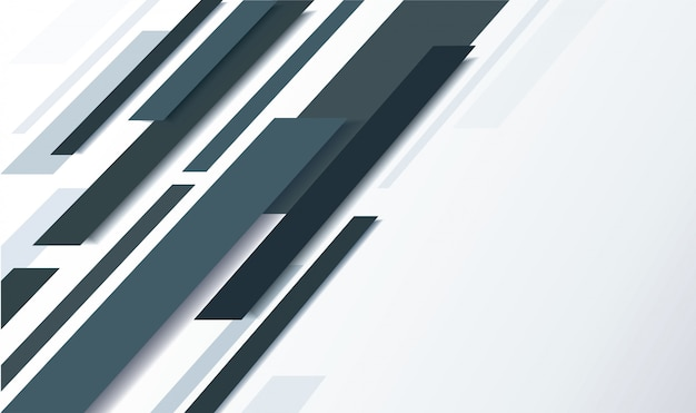 Abstract black line and white background Premium Vector