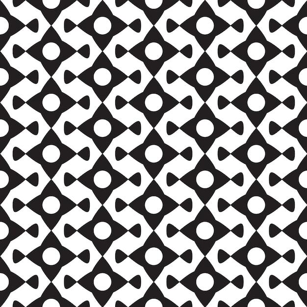 白いイラストの幾何学的な繰り返し形状と抽象的な黒のミニマルなシームレスパターン 無料ベクター