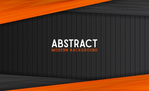Abstract black and orange modern background Premium Vector