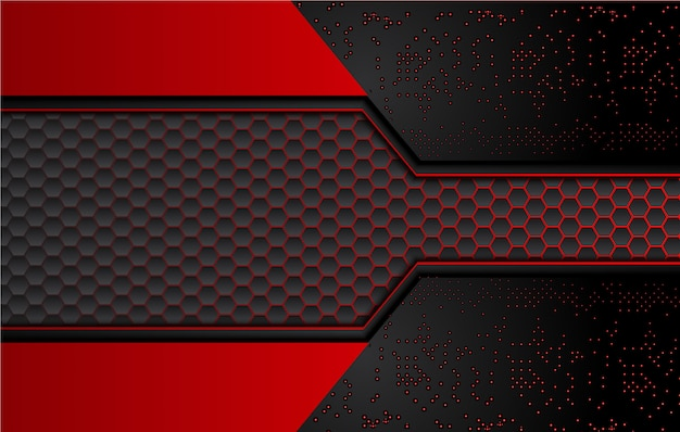 Premium Vector Abstract Black And Red Background