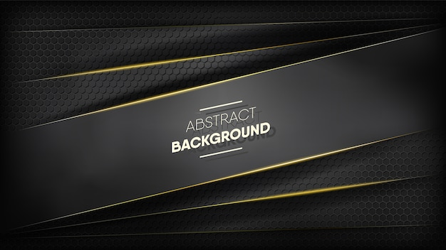 Abstract black stripes background. Premium Vector