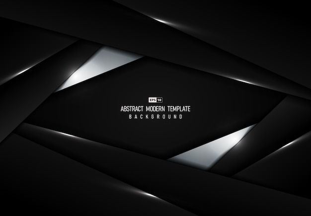 抽象的な黒の技術の背景 Premiumベクター