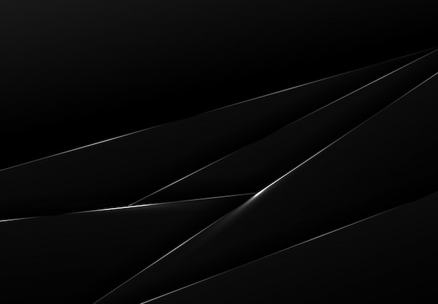 ラップの背景に抽象的な黒いハイテク。 Premiumベクター