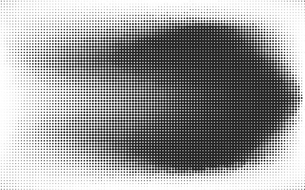 Abstract black and white dots Premium Vector