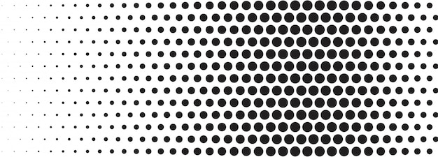 Abstract black and white halftone banner Free Vector
