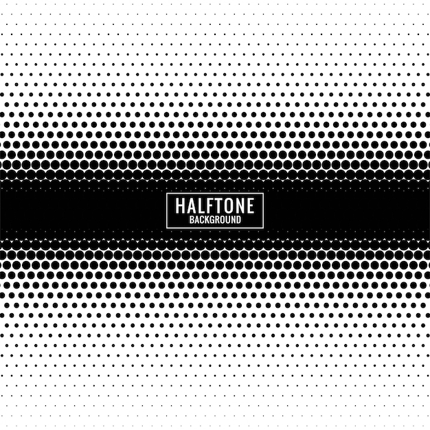 Abstract black and white halftone design Free Vector