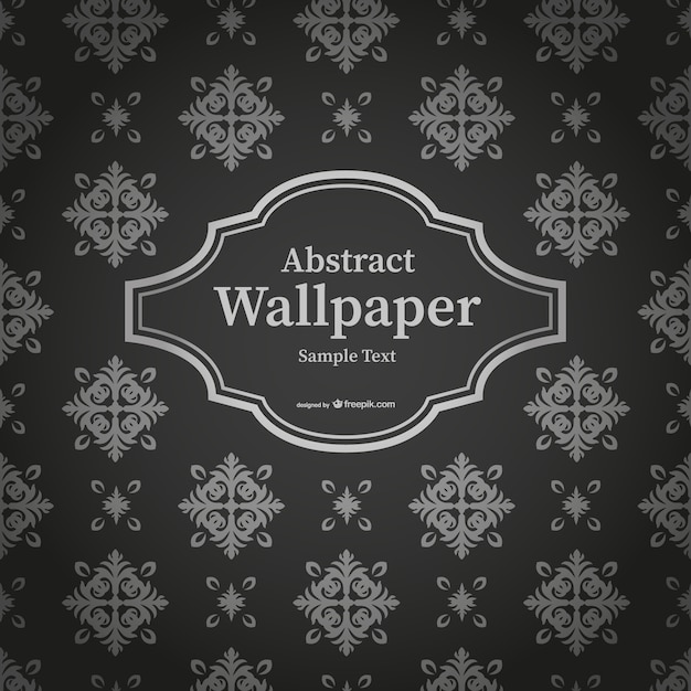 Abstract Black And White Thai Wallpaper Vector Free Download