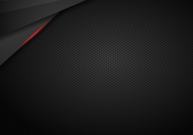 Abstract black with red frame template layout design tech concept background - vector Premium Vector