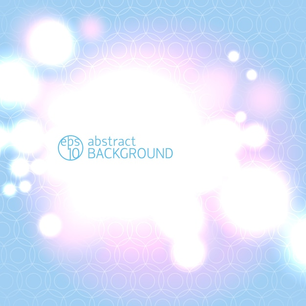 추상 파란색과 분홍색 기하학적 선형 배경과 가벼운 bokeh 빛 무료 벡터